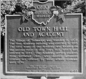 Historical Marker- Old Town Hall and Academy
